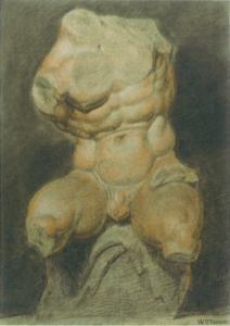 Study of a Plaster Cast of the Belvedere Torso